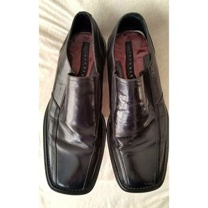 SKECHERS Mens Size 11 Black Leather Shoes